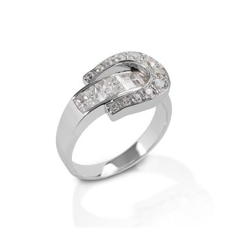Kelly Herd Clear Contemporary Buckle Ring