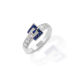 Kelly Herd Blue Spinel Buckle Ring