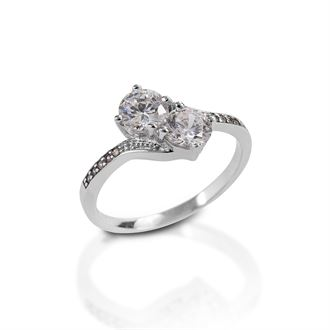 Kelly Herd Two Stone Pavé Band Ring