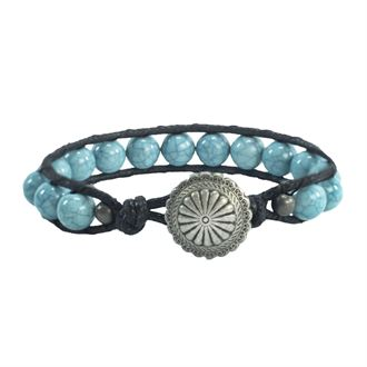 Noble Outfitters™  Beaded Leather Bracelet