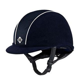 Custom Charles Owen AYR8® Microfiber Suede Helmet with Piping**