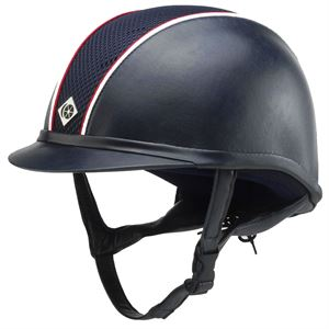 Charles Owen AYR8® Leather-Look Helmet with Piping**