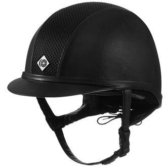 Charles Owen AYR8® Plus Round Fit Leather Look Helmet**