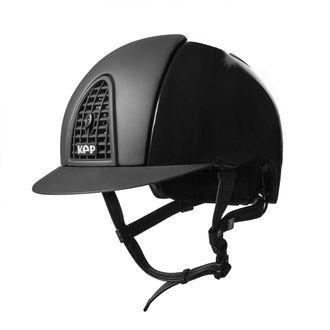 KEP Italia® Cromo Polish Black Helmet** with Textile Grid, Inserts & Visor