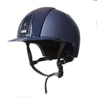 KEP Italia® Cromo Textile Blue Helmet** with Polish Grid, Inserts & Visor