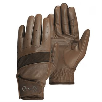 Horze Ladies' Leather Mesh Riding Gloves