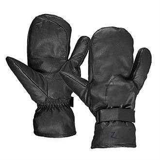 Horze Three-Finger Leather Mittens
