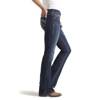 Ariat® Ladies' R.E.A.L. Mid-Rise Stretch Whipstitch Boot Cut Jean