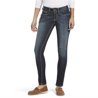 Ariat® Ladies' R.E.A.L. Mid-Rise Stretch Outseam Ella Skinny Jean
