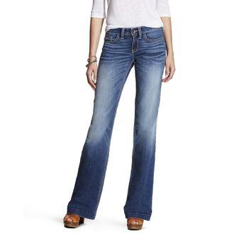 Ariat® Ladies' Trouser Mid-Rise Stretch Baseball Stitch Wide Leg Jean