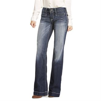 Ariat® Ladies' Trouser Mid-Rise Stretch Entwined Wide Leg Jean