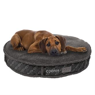 Dover Saddlery® Large Bit-by-Bit™ Round Dog Bed