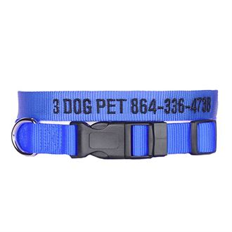"""3 Dog Pet Supply 3/4"""" Wide Personalized Adjustable Dog Collar"""