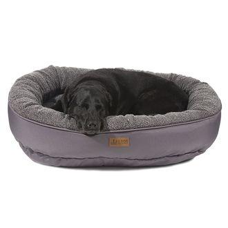 3 Dog Pet Supply EZ Wash Fleece Curler Medium Dog Bed