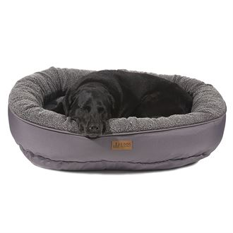3 Dog Pet Supply EZ Wash Fleece Curler Large Dog Bed