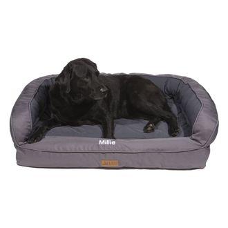 3 Dog Pet Supply EZ-Wash Memory Foam Soft Shell Headrest Dog Bed