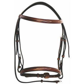 HDR Advantage Fancy Raised Snaffle Bridle with Laced Reins