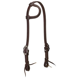 Weaver Leather® Working Tack Sliding Ear Headstall with Buffed Brown Iron Hardware