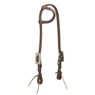 Weaver Leather® Working Cowboy Sliding Ear Headstall, Scalloped Hardware
