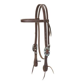 Weaver Leather® Working Cowboy Browband Headstall, Rope Edge Hardware