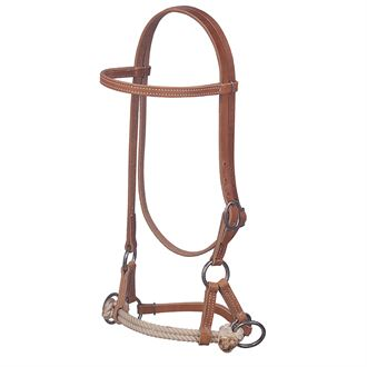 WeaverLeather<sup>®</sup> Harness Leather Side Pull with Double Rope