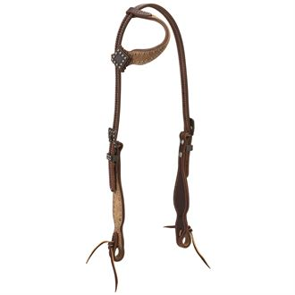 Weaver Leather® Rough Out Oiled Canyon Rose Sliding Ear Headstall