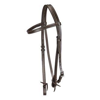 TuffRider® Western Browband Headstall with Latigo Bit Ties