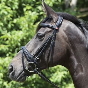 Kieffer Perseus Snaffle Bridle with Plain Browband