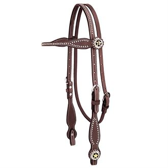 Weaver Leather® Texas Star Chestnut Browband Headstall