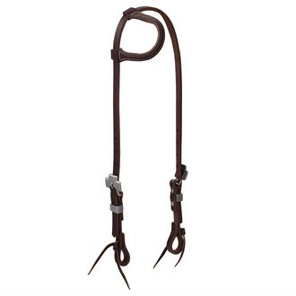 Weaver Leather® Working Tack Sliding Ear Headstall, Rasp Designer Hardware