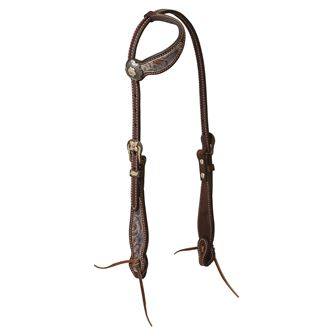 Weaver Leather® Patina Rose Sliding Ear Headstall