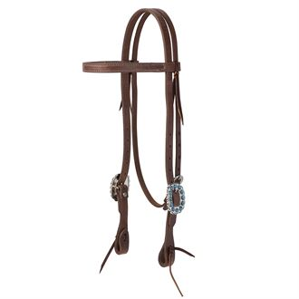 Weaver Leather® ProTack® Headstall with Designer Hardware & Browband