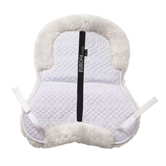 Ovation Europa Sheepskin 6-Shim Half Pad with Solid Spine//Rolled Edges