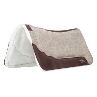 Weaver Leather® Contoured Felt, Memory Foam and Fleece Saddle Pad