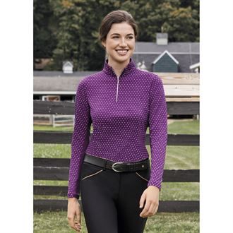 Dover Saddlery® CoolBlast® Ladies Lots-of-Dots Long Sleeve Shirt