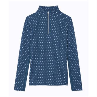 Dover Saddlery® CoolBlast® Girls Lots-of-Dots Long Sleeve Shirt