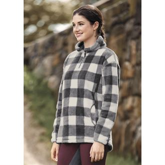 Dover Saddlery® Ladies' Buffalo Check Cozy Zip-Neck Top
