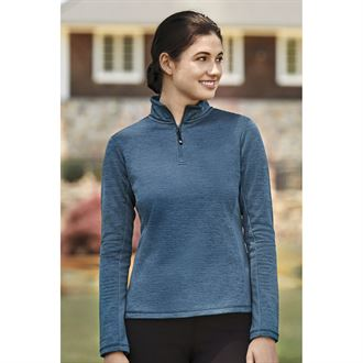 Dover Saddlery® Tabor Mélange Quarter-Zip Top
