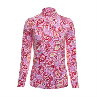 IBKUL™ Ladies' Sarah Long Sleeve Mock Neck Shirt
