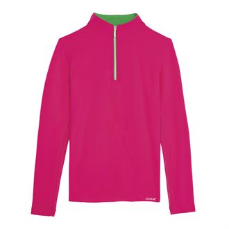 Dover Saddlery® Girls' CoolBlast® Quarter-Zip Long Sleeve Shirt