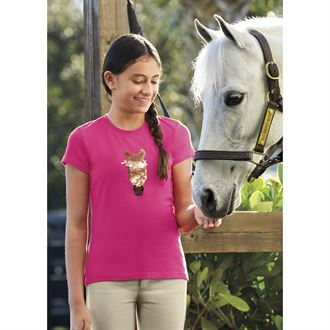 Ariat® Girls' Sequin Trigger Tee