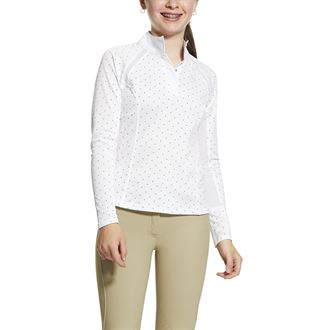 Dover Saddlery Riding Sport Girls Essential Long Sleeve Show Shirt X-Large White
