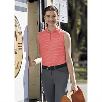 Dover Saddlery® Ladies' CoolBlast® Icefil® Sleeveless Lots-of-Dots Shirt