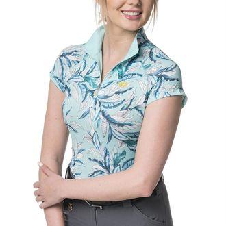 Kastel Denmark Ladies' Lightweight Quarter-Zip Cap Sleeve Shirt