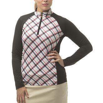 SanSoleil™ Ladies' SolCool® Long Sleeve Panel Mock Neck Top