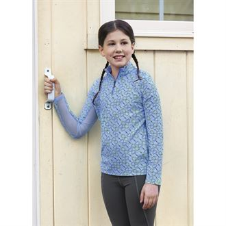 Dover Saddlery® CoolBlast® Girls' IceFil® Long Sleeve Print Shirt