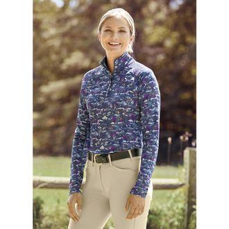 Ariat® Ladies' Lowell Quarter-Zip Print Top 2.0