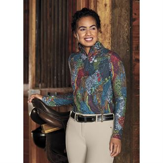 Dover Saddlery® exclusive! Noble Equestrian™ Ladies' Kasey Quarter-Zip Print Top
