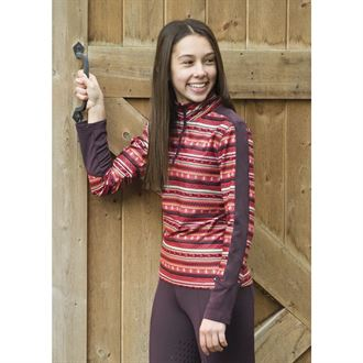 Kerrits Girls' Fair Isle Fleece Tech Top