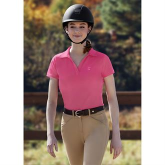 Riding Sport® by Dover Saddlery® Ladies' V-Neck Short Sleeve Polo Shirt